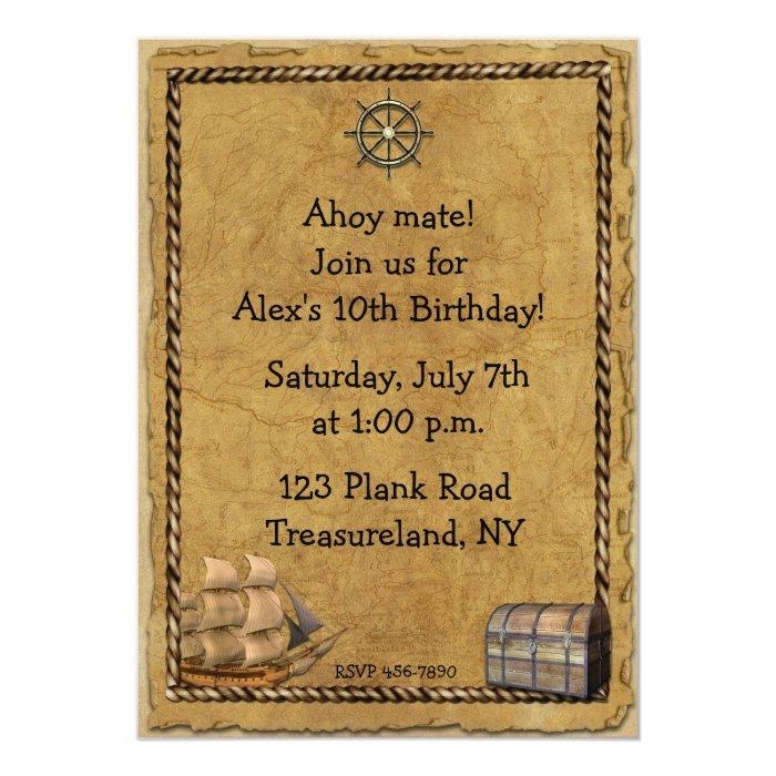 Pirate Themed Invitation