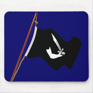 Pirate Thomas Tew Jolly Roger Flag Hoist Mouse Pad