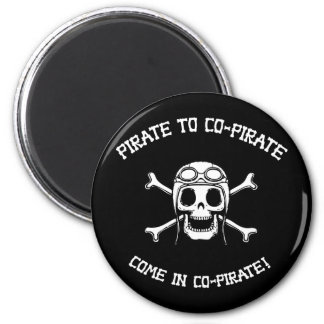 Pirate to Co-Pirate 2 Inch Round Magnet