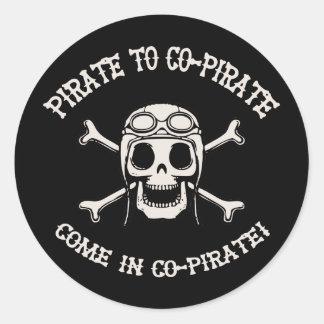 Pirate to Co-Pirate Classic Round Sticker