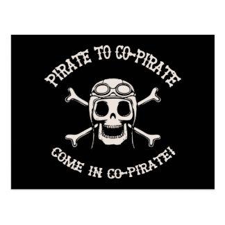 Pirate to Co-Pirate Postcard