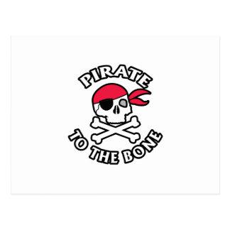 Pirate To The Bone Postcard