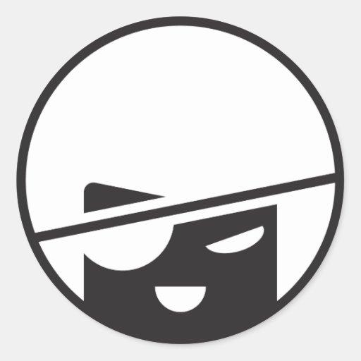 Pirate Tran stickit by jaesond Classic Round Sticker