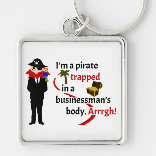 Pirate trapped in a businessman's body keychain