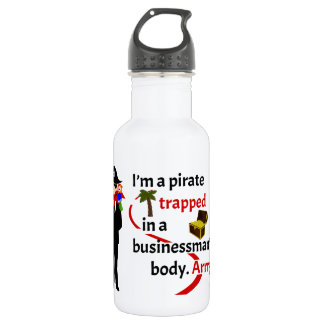 Pirate trapped in a businessman's body stainless steel water bottle