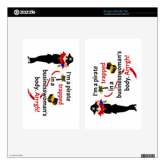 Pirate trapped in a businesswoman's body kindle fire skin