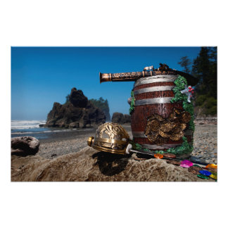 Pirate treasure at Ruby Beach WA Photo Print