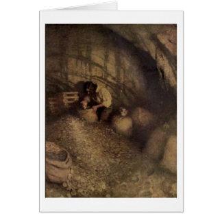 Pirate Treasure Cave Card