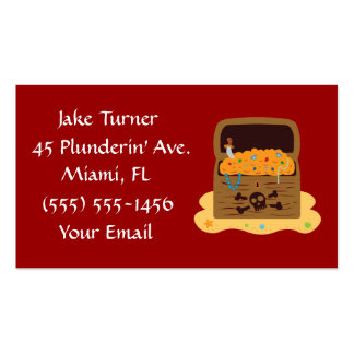 Pirate Treasure Chest Business Cards