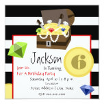 Pirate Treasure Chest Coins & Jewels Birthday Card