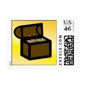 Pirate Treasure Chest Stamp