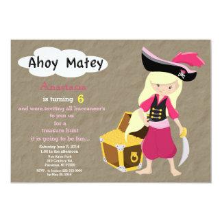 Pirate Treasure Hunt Birthday Invitation
