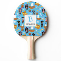 Pirate Treasure Hunt Kids Personalized Pattern Ping-Pong Paddle