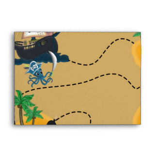 Pirate Treasure Map Birthday Party Envelopes