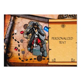 Pirate treasure map card