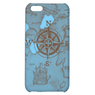 pirate treasure map compass sea choose background cover for iPhone 5C