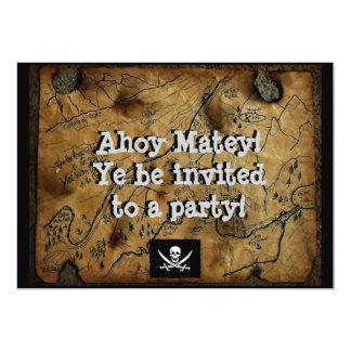 Pirate Treasure Map Haines Alaska 5x7 Paper Invitation Card