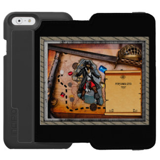 Pirate treasure map iPhone 6/6s wallet case