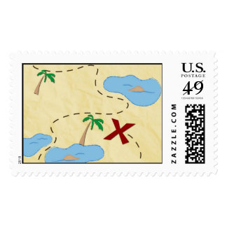 Pirate Treasure Map Postage Template