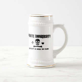 Pirate University Beer Stein