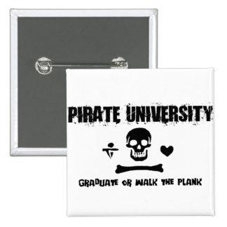 Pirate University Pinback Button