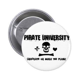 Pirate University Pinback Buttons