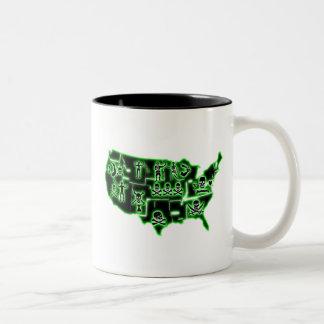 PIRATE USA 2 Two-Tone COFFEE MUG