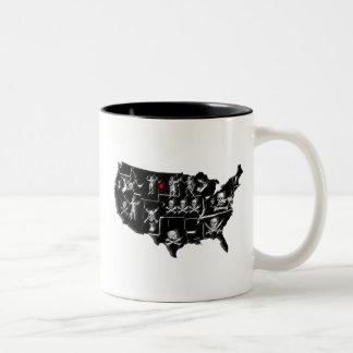 PIRATE USA Two-Tone COFFEE MUG
