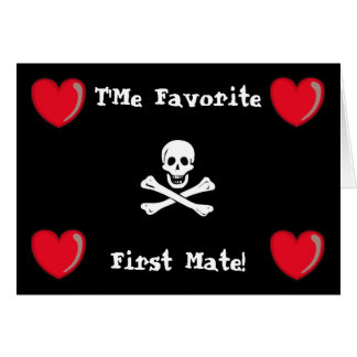 Pirate Valentine Greeting Card