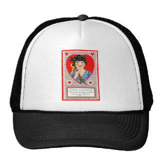 Pirate Valentine Mesh Hats