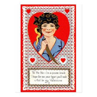 Pirate Valentine Post Card