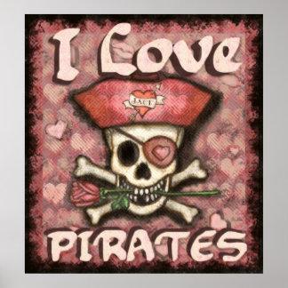 Pirate Valentine's Day Poster