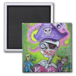 Pirate Voodoo 2 Inch Square Magnet