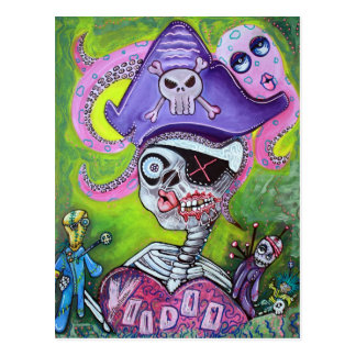 Pirate Voodoo Postcard