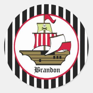 Pirate Voyage Classic Round Sticker
