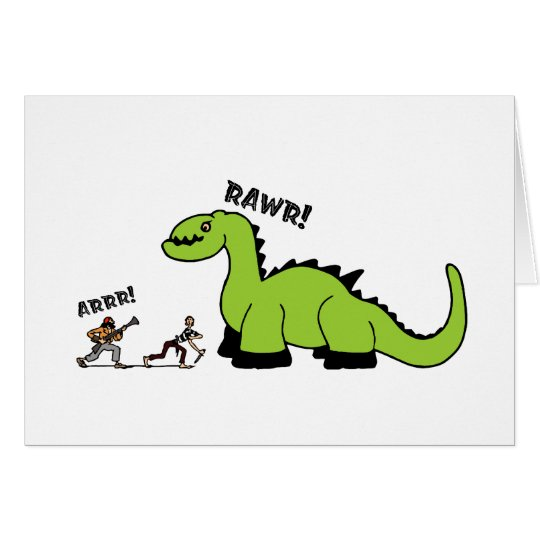 Pirate vs. Dinosaur Card