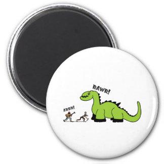 Pirate vs Dinosaur Fridge Magnets