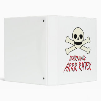 Pirate Warning - Arrr Rated Binder