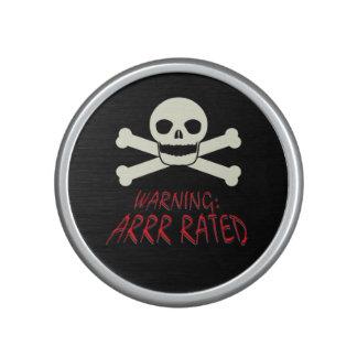 Pirate Warning - Arrr Rated Speaker