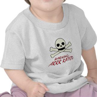 Pirate Warning - Arrr Rated Tee Shirt