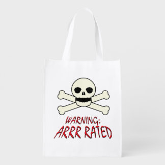 Pirate Warning - Arrr Rated Reusable Grocery Bags