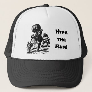 Pirate Warns Hide the Rum! Trucker Hat