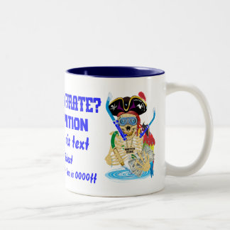 Pirate Water Conservation Customize All Styles Two-Tone Coffee Mug