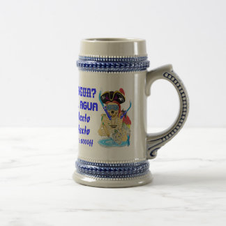 Pirate Water Conservation Customize Spanish Beer Stein