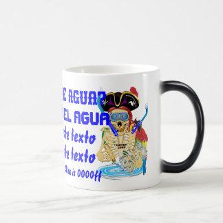 Pirate Water Conservation Customize Spanish Magic Mug