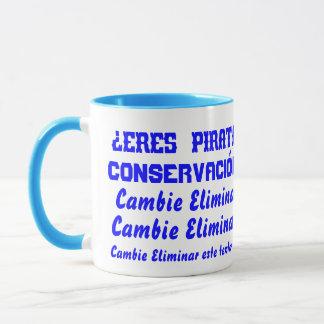 Pirate Water Conservation Customize Spanish Mug