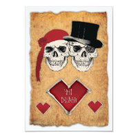 pirate wedding invitation