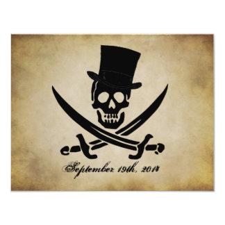 """Pirate Wedding Invitation 4.25"""" X 5.5"""" Invitation Card"""