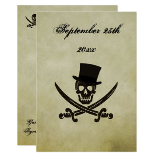 Pirate Wedding Invtation Card