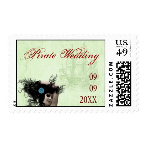 Pirate Wedding Postage Stamps